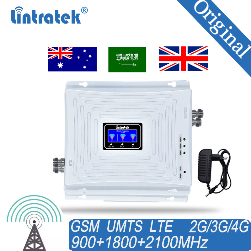 GSM 900MHz Mobile Cell Phone 2G 3G 4G Signal Repeater Booster 900 1800 2100 LTE Signal Amplifier