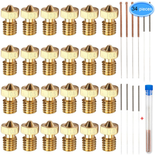 Nozzles Heads Extruder 3d-Printer Makerbot M6 with 10pcs Cleaning-Kits for 24pieces Brass