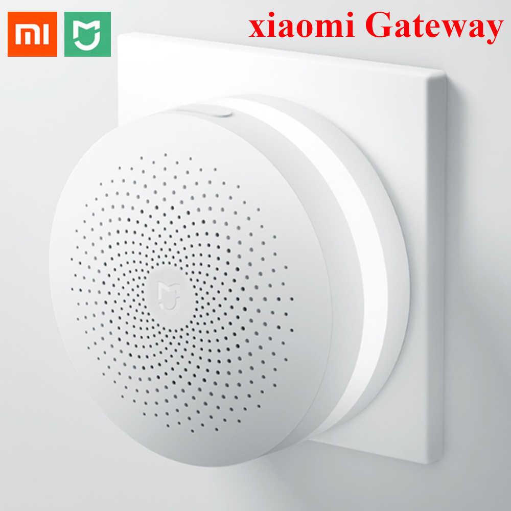 Yeni Xiaomi Mijia çok fonksiyonlu ağ geçidi 2 Hub Alarm sistemi akıllı çevrimiçi radyo gece lambası zili akıllı ev Hub
