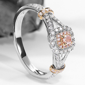 100% 925 Silver VVS1 Diamond Ring for Women Anillos 2 Carats diamond Bizuteria silver 925 jewelry Gemstone Diamond Ring box(China)