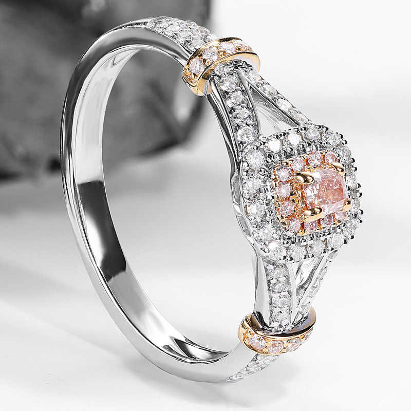 925 スターリングシルバー色 VVS1 ダイヤモンドリング女性のため Anillos 2 カラット Bizuteria 925 宝石用原石リング