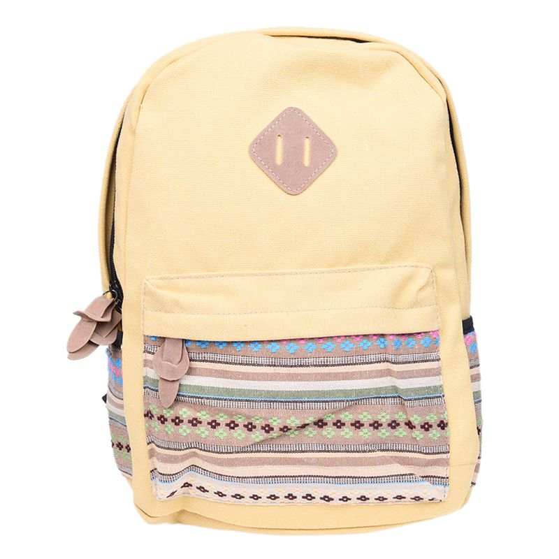 Ladies Vintage Canvas Backpack Retro Vintage backpack for outdoor camping picnic Sports University backpack schoolbag Khaki|Climbing Bags| |  - title=