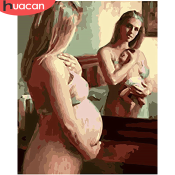 HUACAN DIY Pictures By Number Girl Kits Hand Painted Paintings Art Painting By Numbers Portrait Drawing On Canvas Home Decor