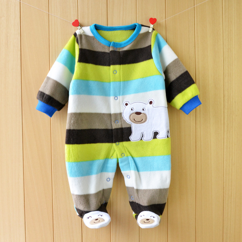 Top Quality Baby Clothing 2019 New brands Original Baby   Rompers   Newborn Polar Fleece Fabric Girls Boys Clothes Kids Sleepwear