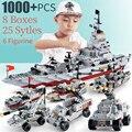 1000 шт. модель из АБС-пластика кораблей кирпичи военного корабля армии уплотнители лодка INGlys военный корабль