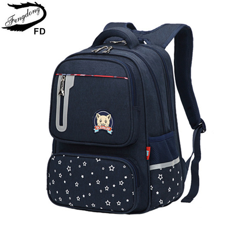 FengDong Primary School Backpack For Boy Orthopedic Backpack Luminous Effective Strip Student Backpakc Schoolbag Kids School Bag