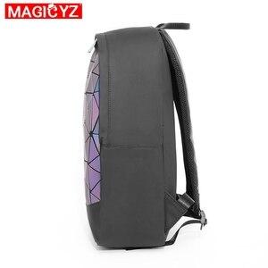 Image 3 - 2020 New Large Capacity Rucksack Women Travel Bag Luminous Laser Daypack PVC Leather Backpacks Female Glowing Backpack