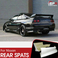 For Nissan R33 Skyline GTS TS Style FRP Fiber Black or grey Unpainted Rear Bumper Spats Car accessories Exterior Body kit