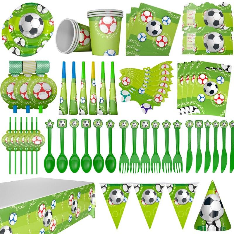 Fontes de festa de aniversário tema de futebol festa de aniversário crianças festa de aniversário decoração crianças festa de papel descartável copos