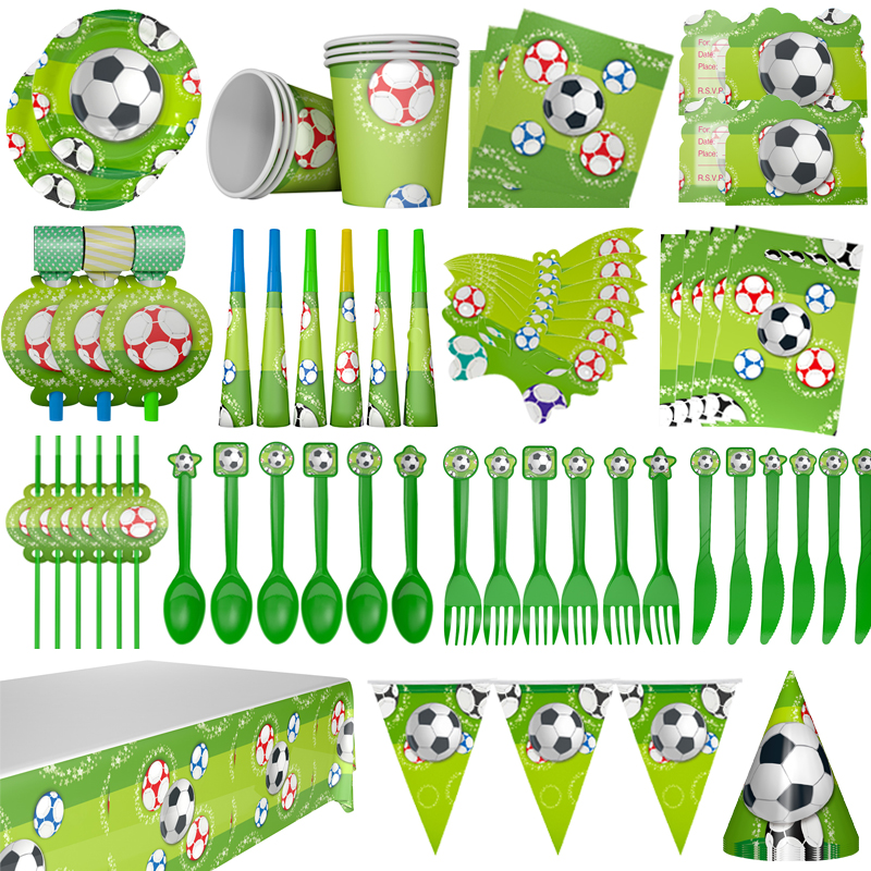 Party Supplies Birthday Football Theme Party Kids Birthday Party Decoration Children Party Disposable Paper Party Cups