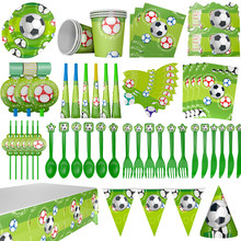 Party Supplies Birthday Football Theme Party Kids Birthday Party Decoration Children Party Disposable Paper Party Cups(China)