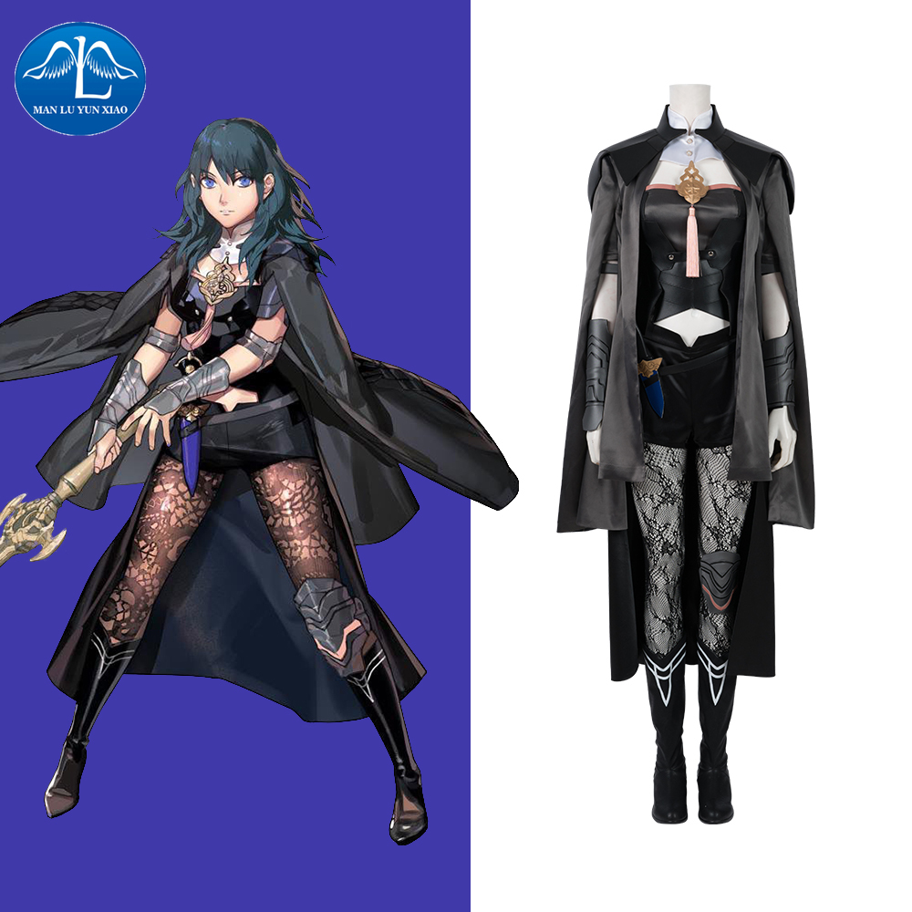 Manluyunxiao Beres Byleth Cosplay Halloween Costume For Women Adult Fire Game Emblem ThreeHouses Fantasy Anime Outfit Plus Size image
