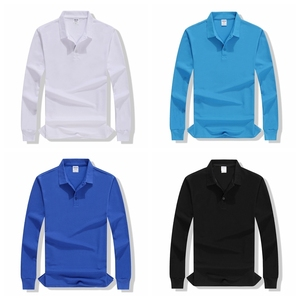 Image 5 - Autumn High Quality Polo Shirts customization Female Casual Solid Sweatshirt Women Cotton Long Sleeve Tops Shirt Plus Size