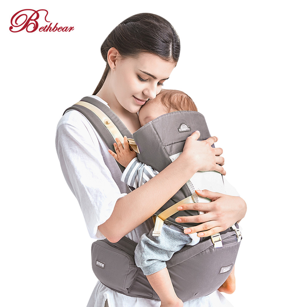 Bethbear 4 In 1 Multifunctional Hipseat Newborn Baby Ergonomic Carrier Kid Sling Backpack Hipseat Suspender For Baby Carrier