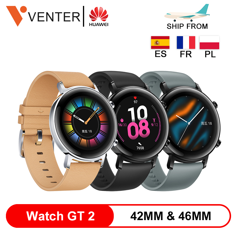 46MMHUAWEI Watch GT 2 GT2 42MM 46MM Smartwatch Bluetooth 5.1 Fitness Tracker 14Day Battery Phone Call Heart Rate Monitor Android