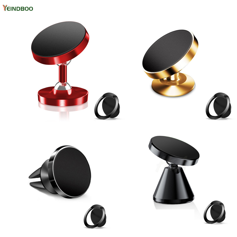 YEINDBOO Universal Car Magnetic Phone Holder for iPhone Xiaomi With Magnetic Mobile Phone Ring Holder Phone stand for All Phone