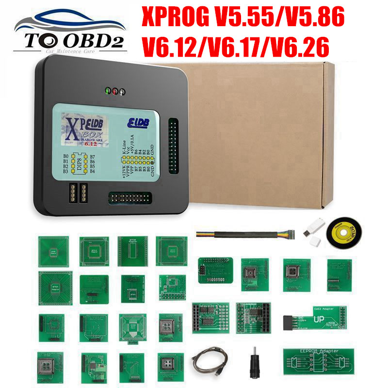 New <font><b>XProg</b></font>-M <font><b>Xprog</b></font> m <font><b>V5.55</b></font> V5.86 V6.12 V6.17 V6.26 ECU Chip Tunning Programmer X Prog M Box 6.26 <font><b>XPROG</b></font>-M 5.55 Without USB Dongle image