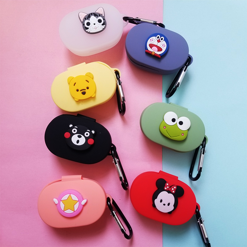 Cartoon Cute Earphone Case With Hook For Xiaomi Redmi AirDots 2019 New Case Cover Wireless Bluetooth Earphone Cases