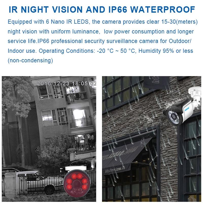 Smar Volle HD 4CH 1080P POE 48V NVR CCTV Kit 2 PCS/4 PCS 2MP Outdoor IP kamera Nano IR 4 Kanal CCTV-System HDMI P2P E-mail Alarm