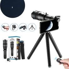 APEXEL טלה עדשת סדרת HD 36X 60X טלפון מצלמה זום המשקפת טלסקופ עדשות + SelfieTripod עם מרחוק עבור טלפונים חכמים