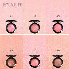 цена на FOCALLURE Makeup Face blush Silky Cream Transparent Powder Ombre Blusher Long-lasting Natural  Waterproof Face Makeup