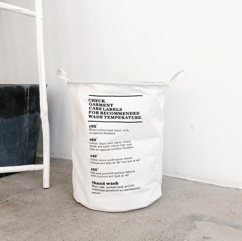 1Pc Folding Laundry Basket Sundries Dirty Clothes Organizer Cotton Linen Laundrys Barrel Home Storage 9Styles Convenience Stripe