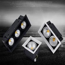 Diodo emissor de luz downlight luz do ponto 10w 20 30 ac85-240V teto recesso luzes de iluminação interior