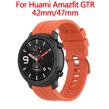 20/22mm Sport Bracelet Soft Silicone Watchband Strap Band for Xiaomi Huami Amazfit PACE Stratos GTR 42mm 47mm Smart Watch image