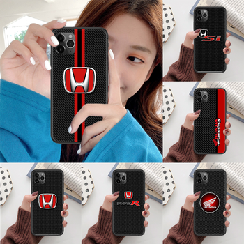 HONDA JDM luxury sport car Phone case For iphone 5 6 7 8 S SE plus X XS XR 11 12 mini Pro Max 2020 black black cell cover pretty image