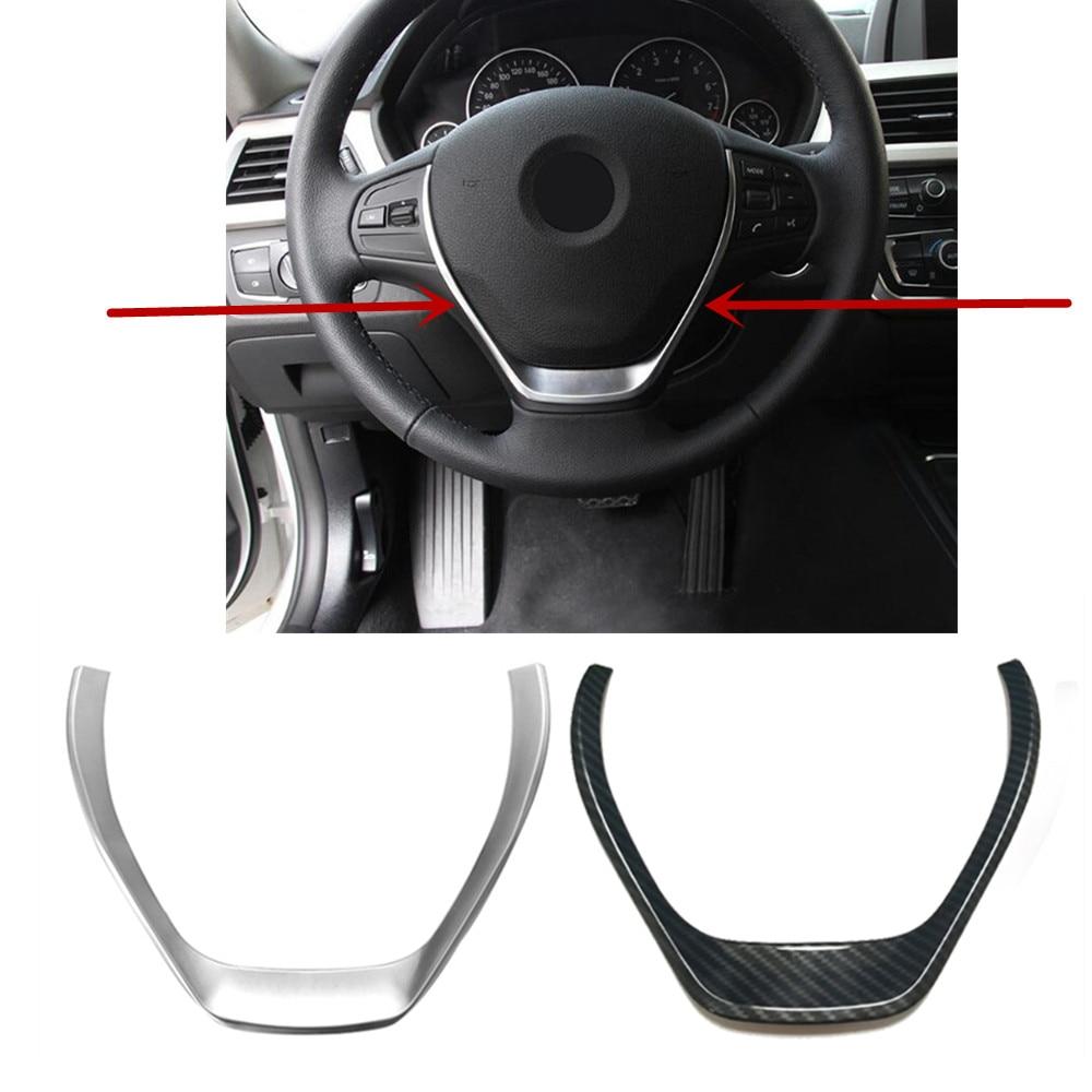 ABS Chrome Steering Wheel Button Decorative Trim Frame Cover Sticker Interior For BMW 1 3 Series F20 F30 F34 3GT 320i 328i 118i