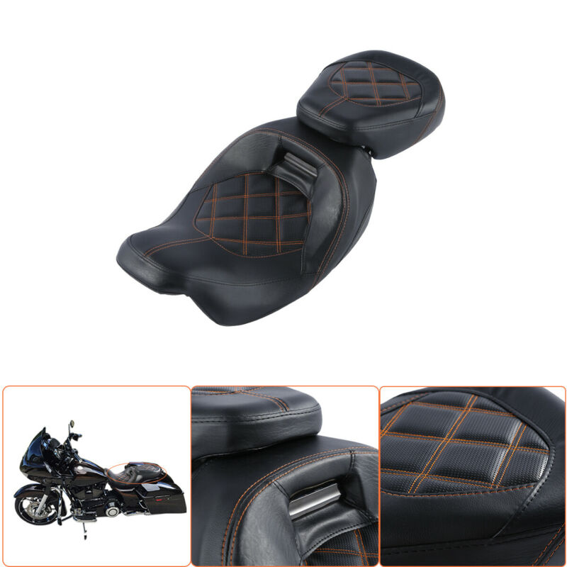 Motorcycle Driver Passenger Pillion Seat For Harley Touring 09-19 CVO Street Glide