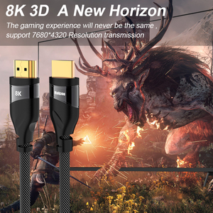 Image 2 - HDMI 2.1 cable 4K 120HZ hdmi High Speed 8K 60 HZ UHD HDR 48Gbps cable HDMI Ycbcr4:4:4 Converter for PS4 HDTVs Projectors