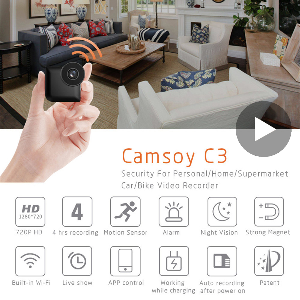 Wi Fi Micro Home Wireless Video CCTV Mini Security Surveillance with Wifi IP Camera Cam Pet Dog Camara for Phone Indoor IPcamera image