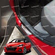 Для hyundai i20 наклейка на порог автомобиля отделка 2020 2018