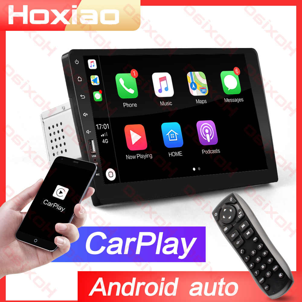 "1 DIN integrado MP3 Carplay Android Auto 2 din coche Radio reproductor con pantalla táctil espejo enlace MP5 Bluetooth 9 ""HD de Audio de coche 2DIN"