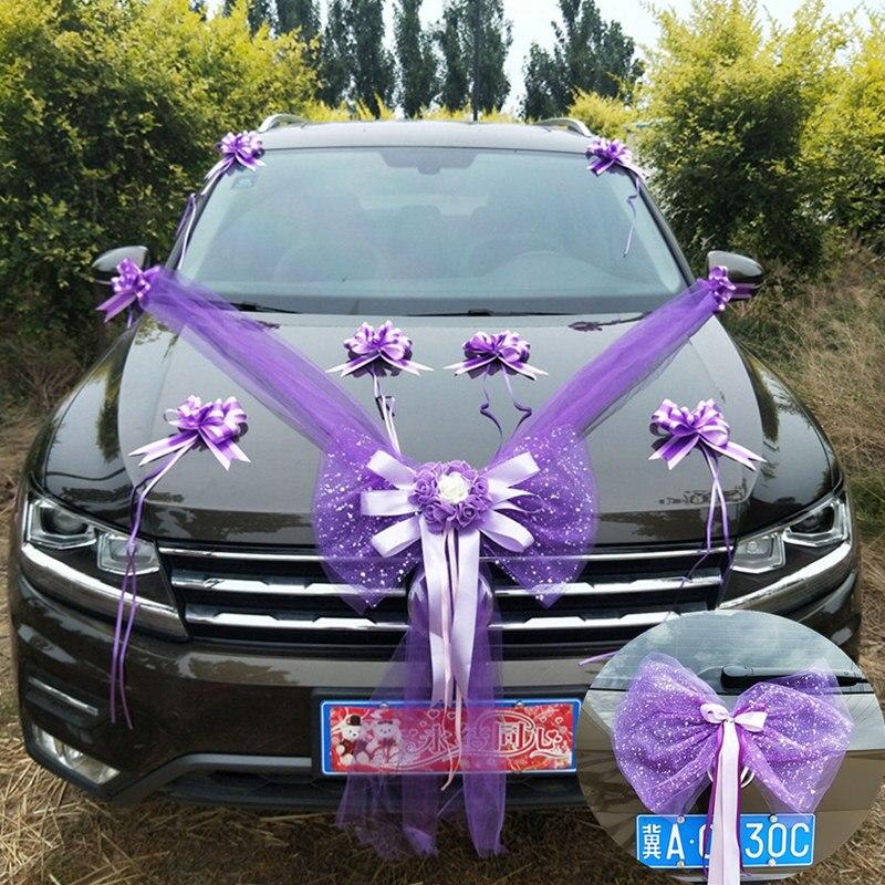 Nova vinda personalidade principal e vice casamento carro equipe simulação coreano arco flores definir decoração centro de casamento fornecimento
