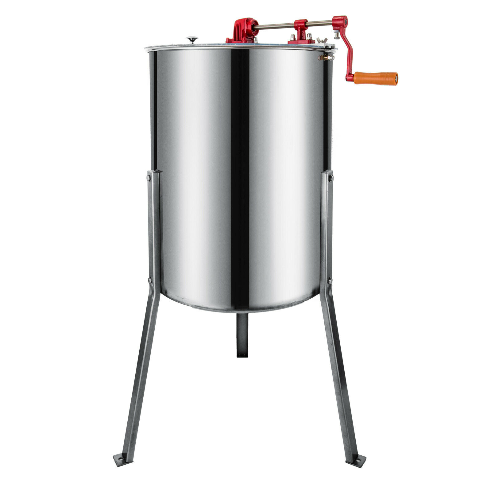Vevor Stainless Steel Manual Honey Extractor 4 Frame Bee Extractor Stainless Steel Honey Spinner
