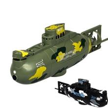 Submarino de simulación a control remoto para niños, Mini submarino eléctrico de 6 canales de alta velocidad con control remoto de 3311M, juguete para regalo