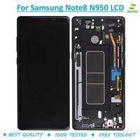 Amoled дисплей + рамка для SAMSUNG Galaxy NOTE 8 N950 N950F ЖК дисплей сенсорный экран Замена для Galaxy NOTE8 lcd s + инструмент