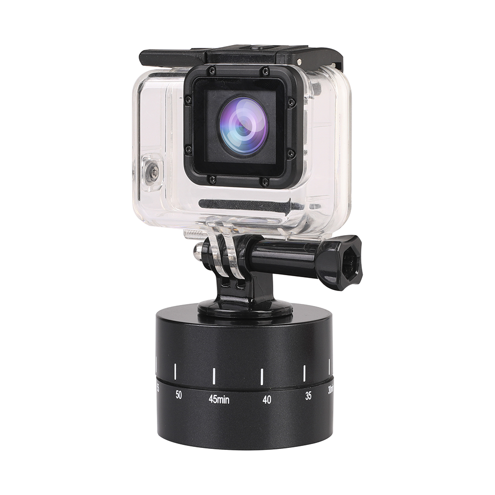 Image 5 - 60min Time Lapse 360 degree Rotating Automatic Timer Tripod Head Photography Delay Tilt Head for GoPro7 6 5 DJI OSMO Action Sj9-in Sports Camcorder Cases from Consumer Electronics