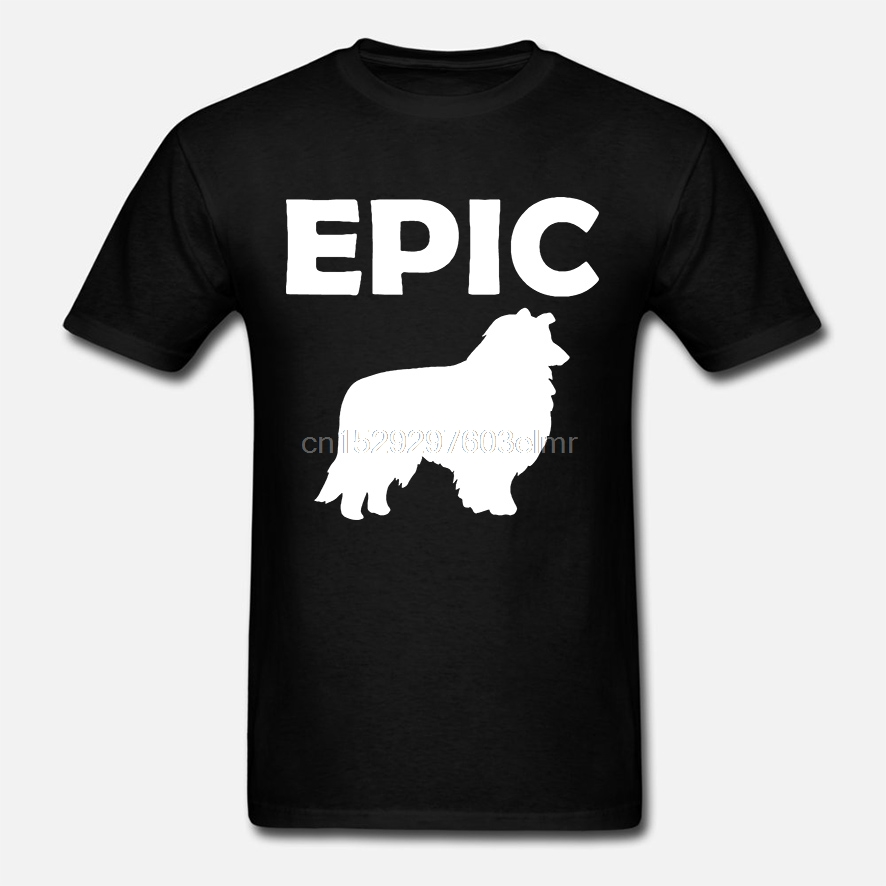 Epic Collie Dog Silhouette Mens Tee Shirt Pick Size Color Small-6XL