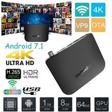 DVB-S-S2 Android 7.1 TV Box 1GB RAM 8 ROM Amlogic S905D Octa