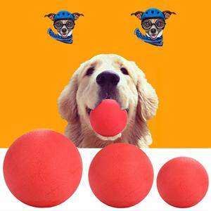 Pet Dog Training Toy Ball Indestructible Solid Rubber Ball Chew Play Bite Toy With Carrier Rope Bite 3 Sizes(China)