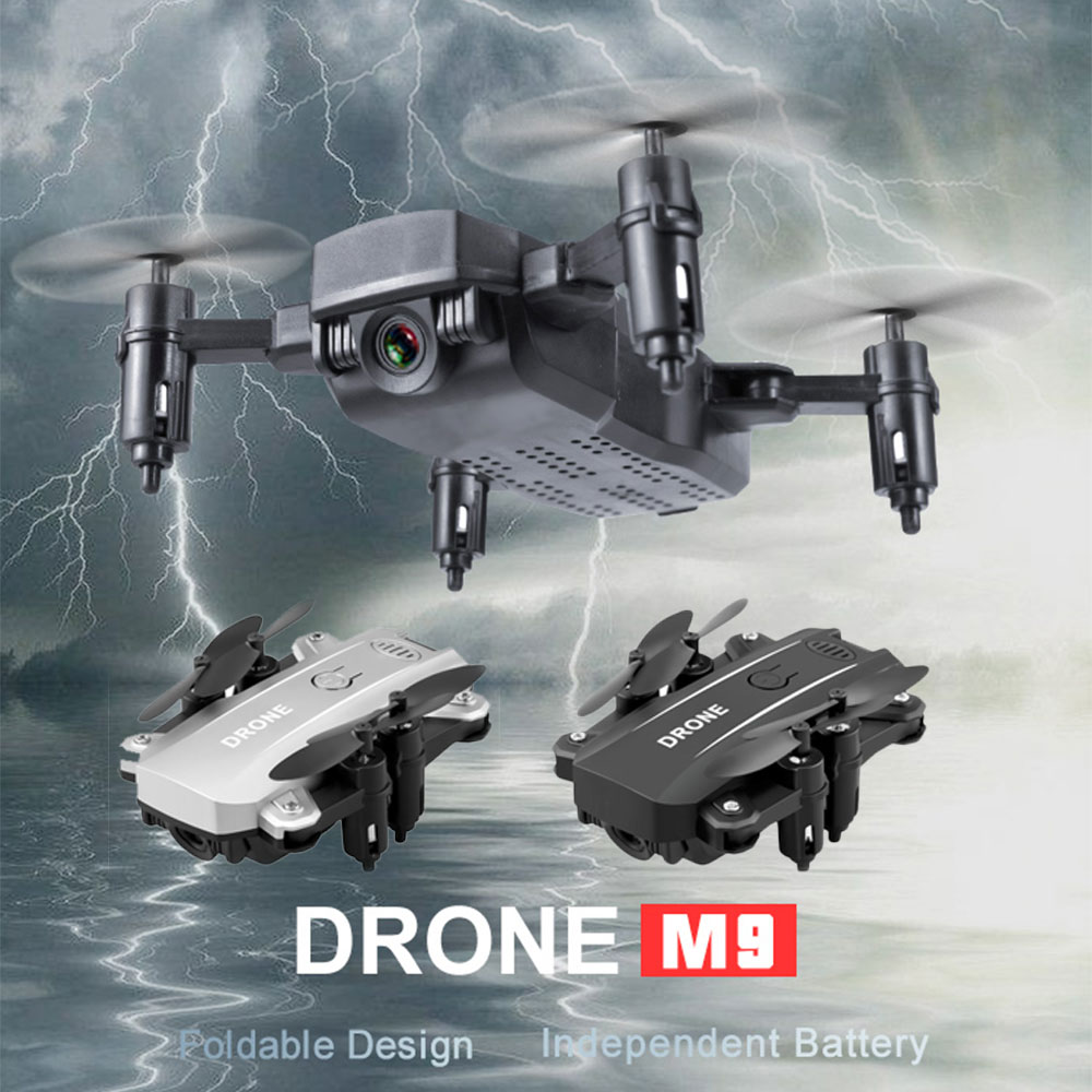 Willkey M9 Mini Drones with 1080P Camera Professional Wifi FPV RC Foldable Altitude Hold Quadcopter Pocket Selfie Helicopter Toy