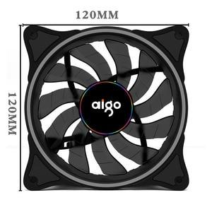 Image 2 - Aigo V1 Cooler PC Case Fan 120MM Fan Cooling LED 12V Cooling Fan 3Pin Rainbow Halo Mute Cooler Master Cooling Computer Fans