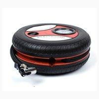 Car Mini Inflatable Pump DC12V Metal Plastic Electric Air Compressor Monitor Pump with 3 Nozzle Adapters|Inflatable Pump|Automobiles & Motorcycles -