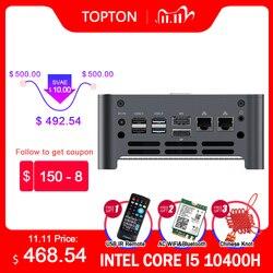 TOPTON New NUC Intel i9 10980HK i7 10870H 8 Core Mini Computer 2 LAN Windows 10 2*DDR4 2*NVMe Gaming PC DP HDMI Type-C 4K WiFi