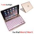 Чехол для iPad Mini 5 2019/Mini5 7 видов цветов с подсветкой  Беспроводная Bluetooth клавиатура  Чехол для iPad Mini 4/Mini4