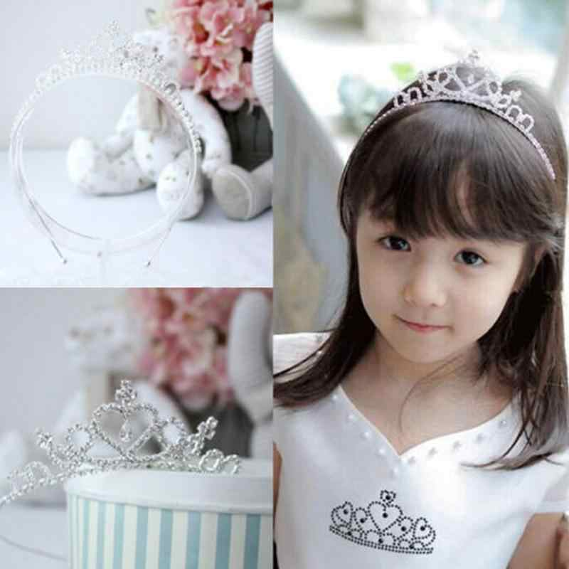 Strass cristal diadème bandeau enfant fille mariée princesse couronne de bal