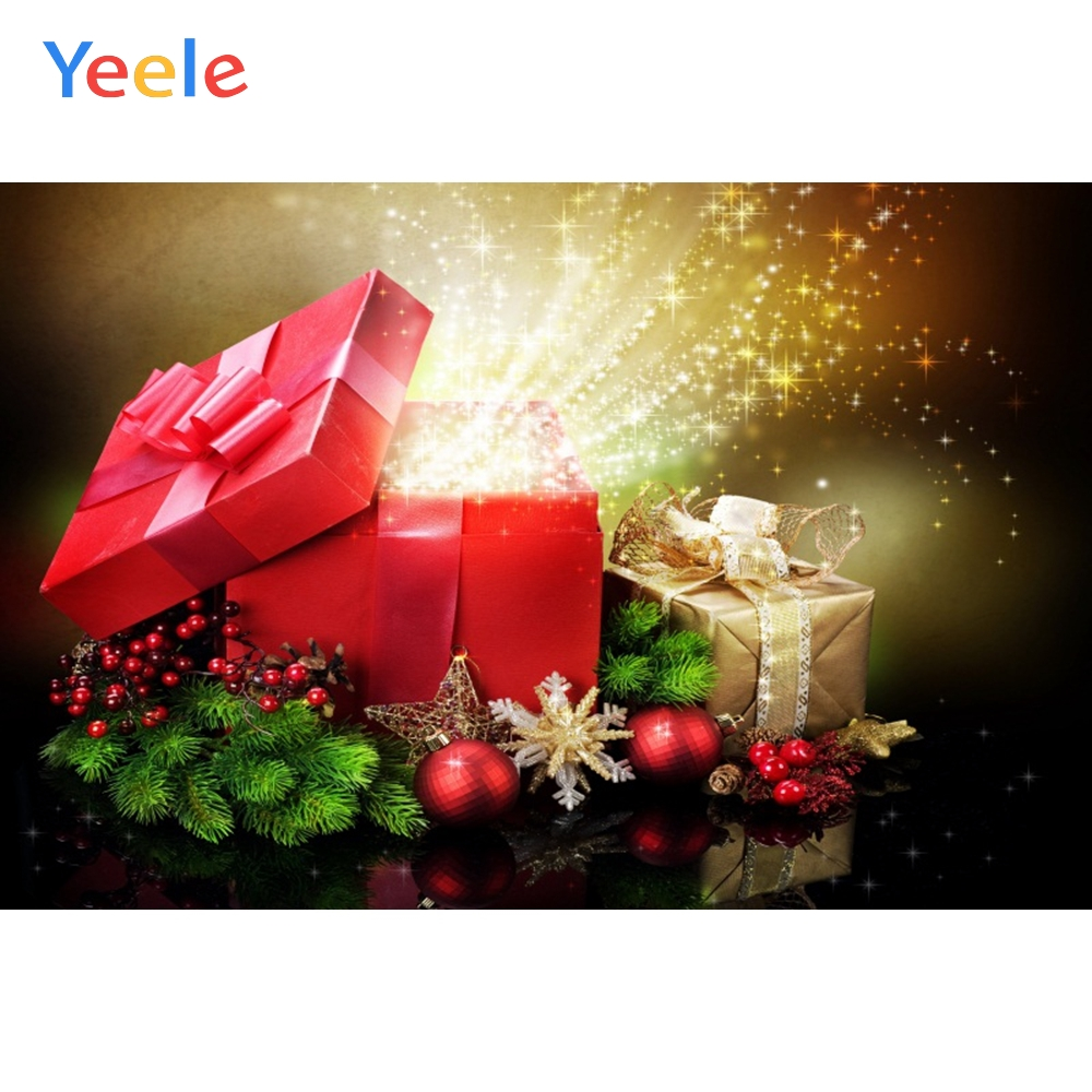 Yeele Christmas Photocall Bokeh Glitters Ball Gifts Photography Backdrops Personalized Photographic Backgrounds For Photo Studio in Background from Consumer Electronics
